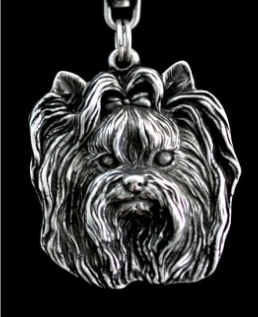 Yorkshire Terrier Silver Plated Key Chain