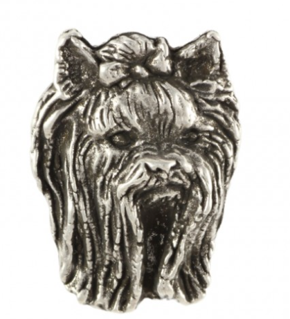 Yorkshire Terrier Silver Plated Lapel Pin