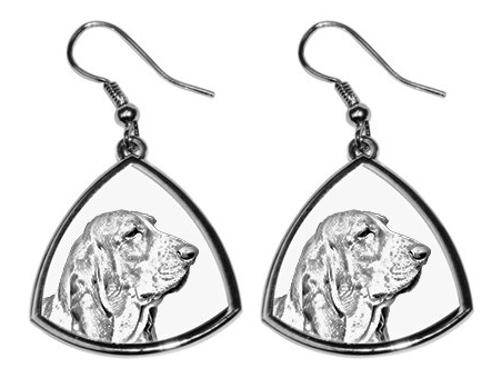 Basset Hound Silver Plated Earrings