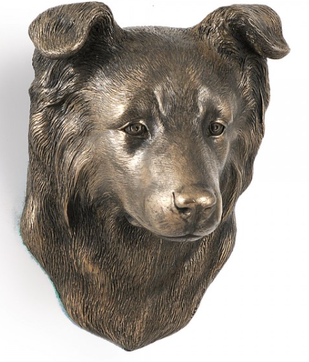 Border Collie Wall Hung Statue