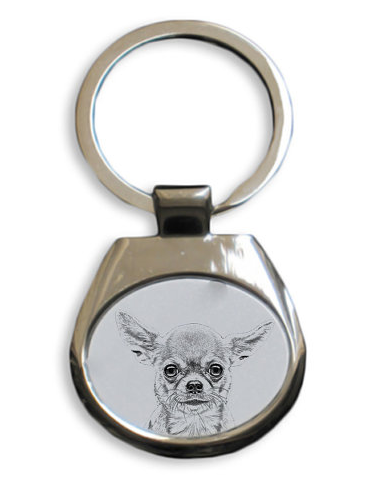 Chihuahua Smooth Coat Key Ring