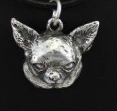 Chihuahua Smooth Coat Sliver Plated Pendant