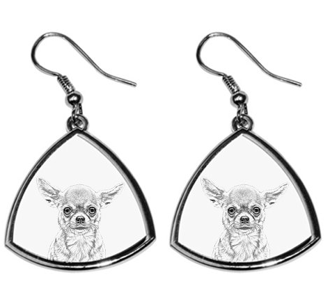 Chihuahua Smooth Coat Silver Plated Earrings