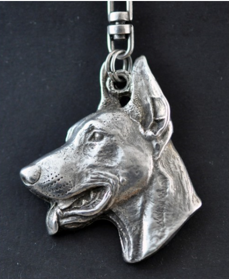 Doberman Silver Plated Pendant