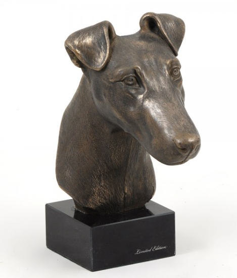 Fox Terrier Smooth Coat Statue on a Marble Base