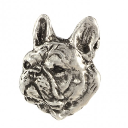 French Bulldog Silver Plated Lapel Pin