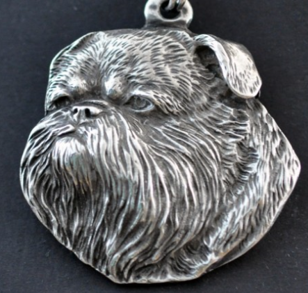 Brussels Griffon Silver Plated Key Chain