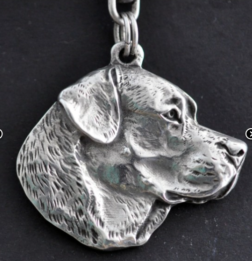 Labrador Retriever Silver Plated Key Chain