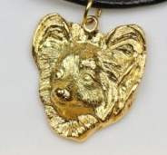 Papillon Hard Gold Plated Pendant