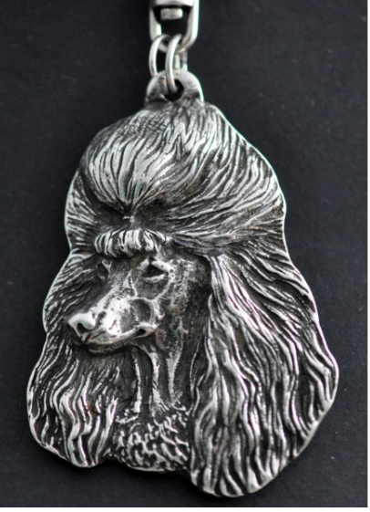 Poodle Silver Plated Key Chain