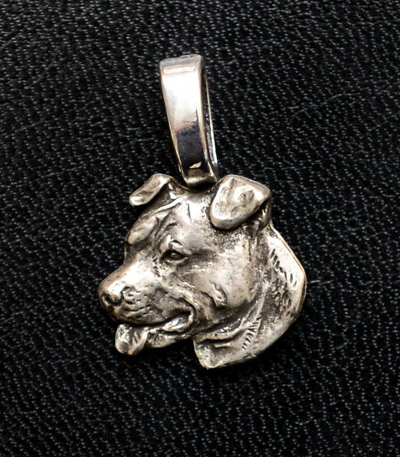 Staffordshire Bull Terrier Sterling Silver Mini Charm