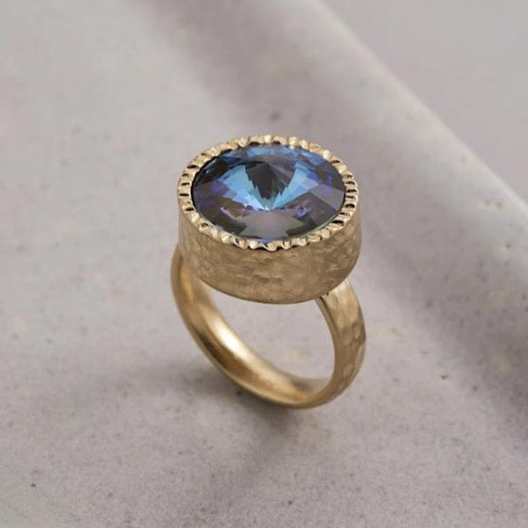 Danon Anic Ring Gold / Blue Crystal
