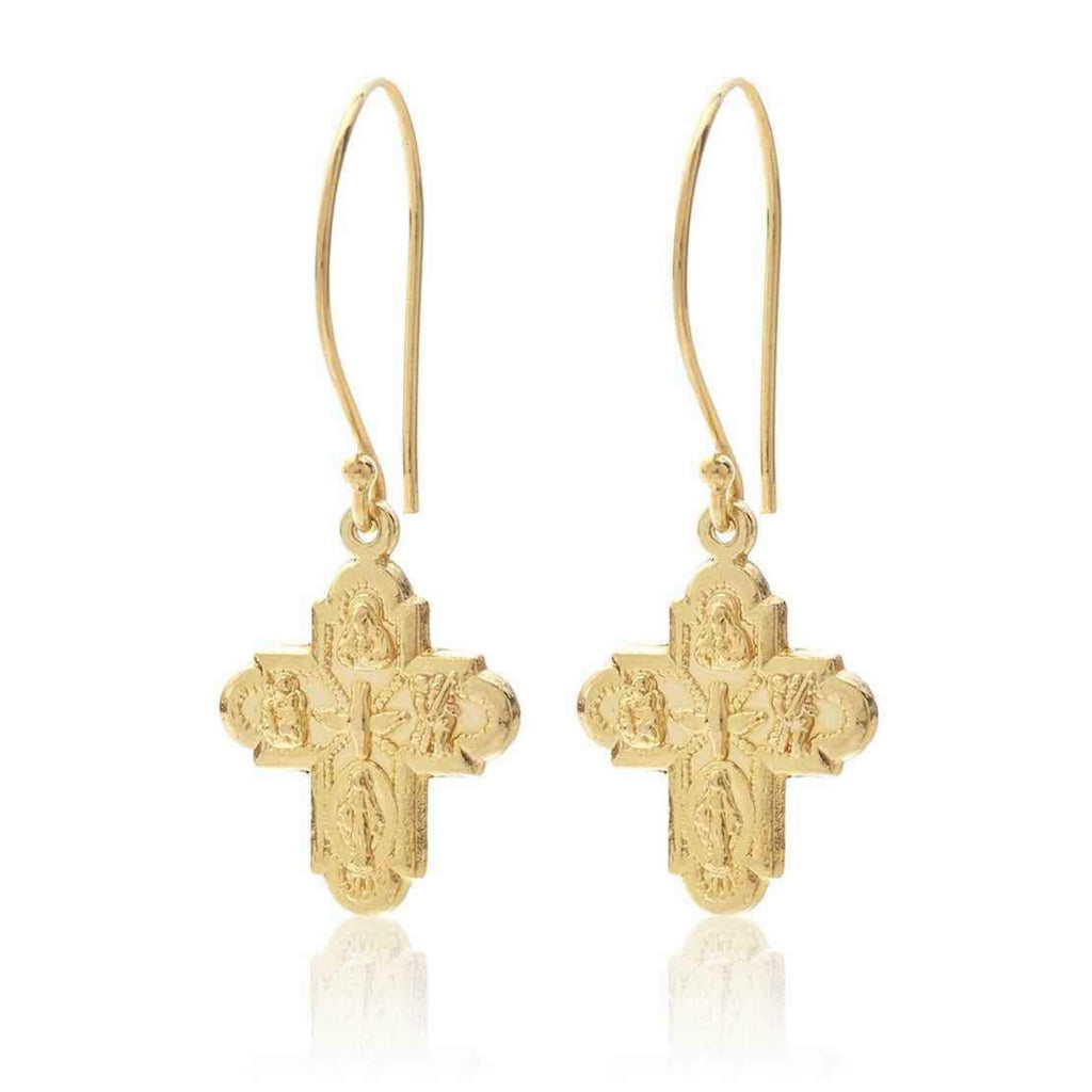 Super Cross Earrings Gold