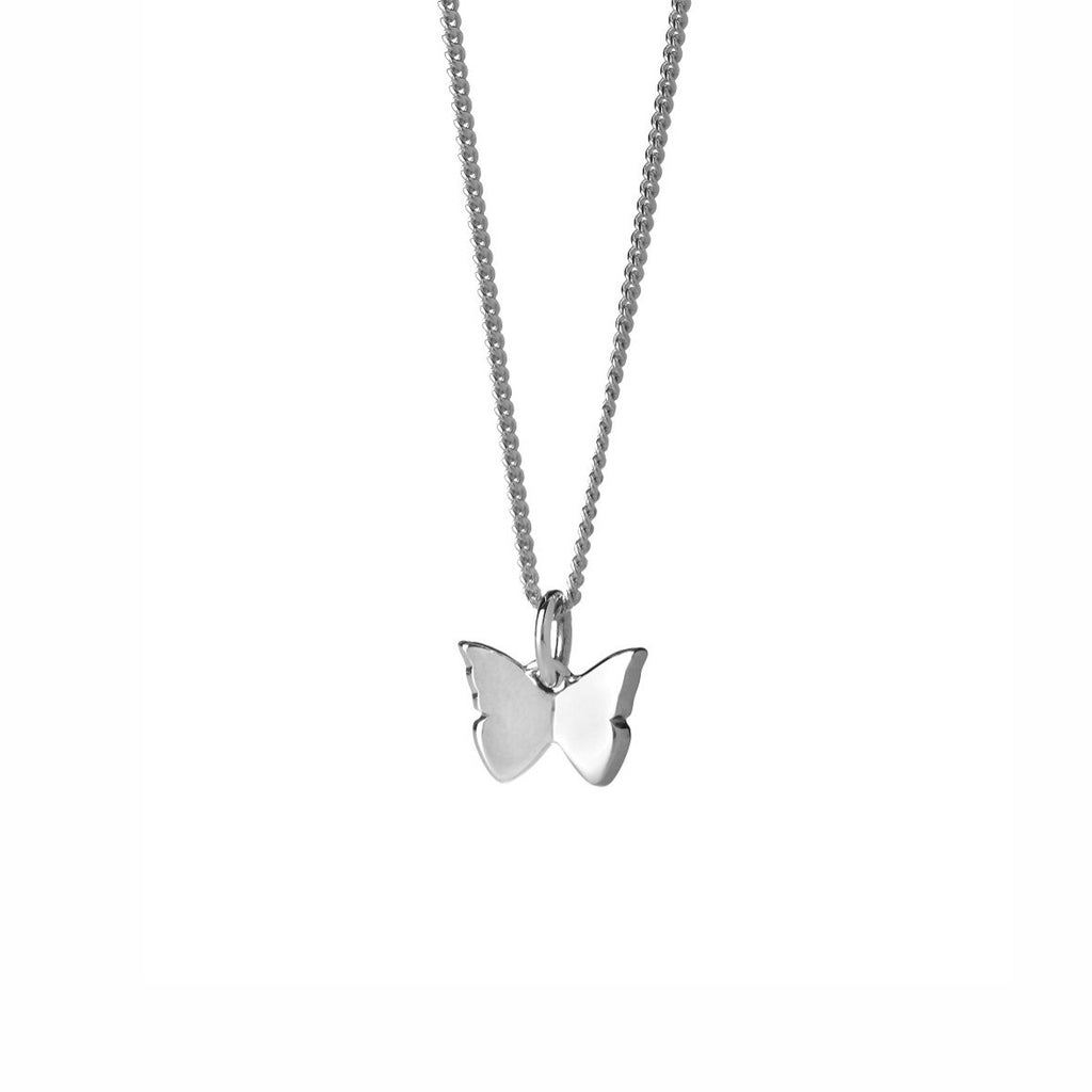 Karen Walker - Butterfly Necklace - Silver - Studio Matakana