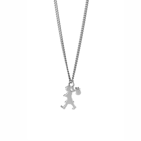 Karen Walker - Mini Runaway Girl Necklace - Silver - Studio Matakana
