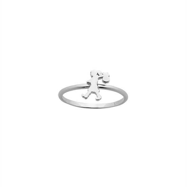Karen Walker - Mini Runaway Girl Ring - Silver - Studio Matakana