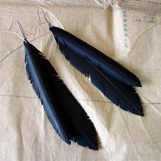Jacinda Double Feather Earrings - Studio Matakana
