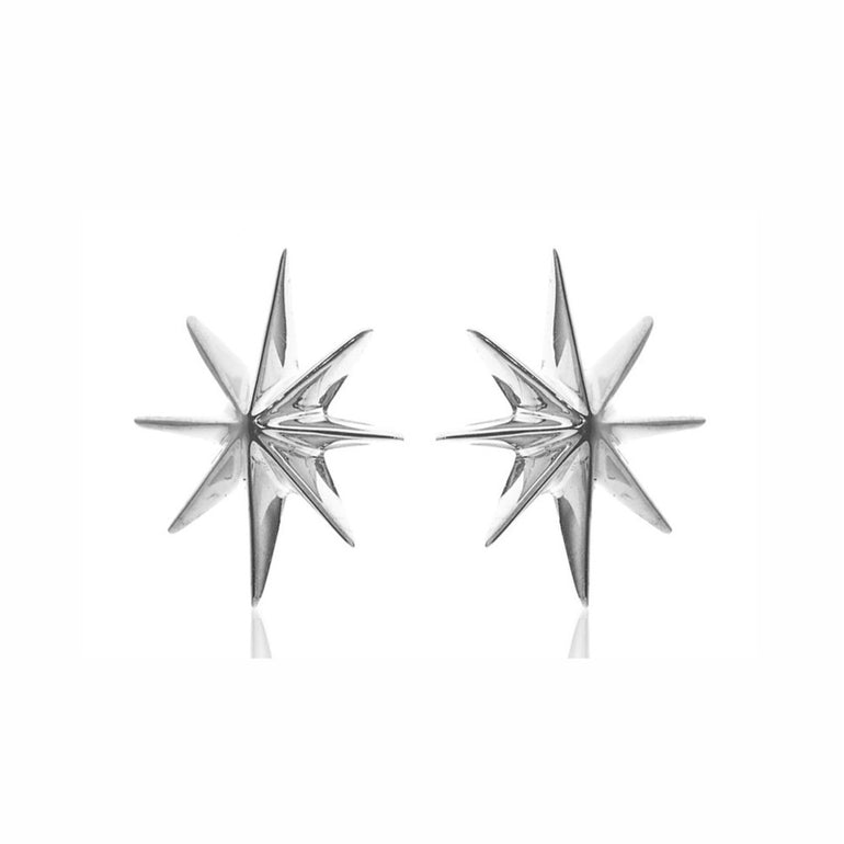 Silk & Steel - North Star Stud - Silver - Studio Matakana