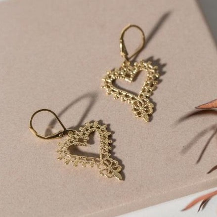 Zoe & Morgan - Gypsy heart earrings - gold - Studio Matakana