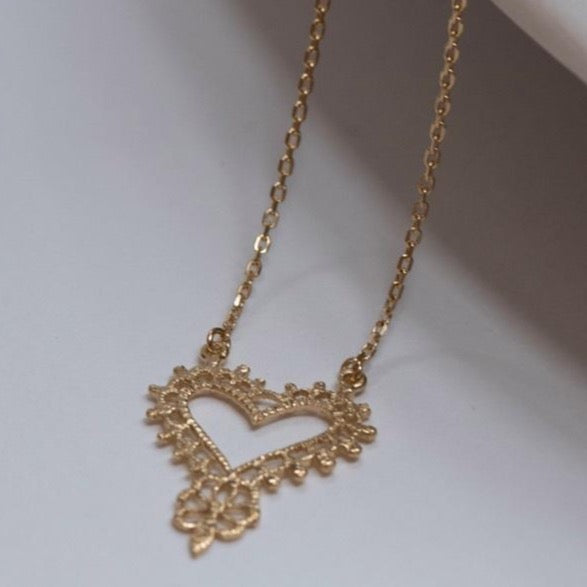 Zoe & Morgan - Gypsy Love Necklace - Gold - Studio Matakana