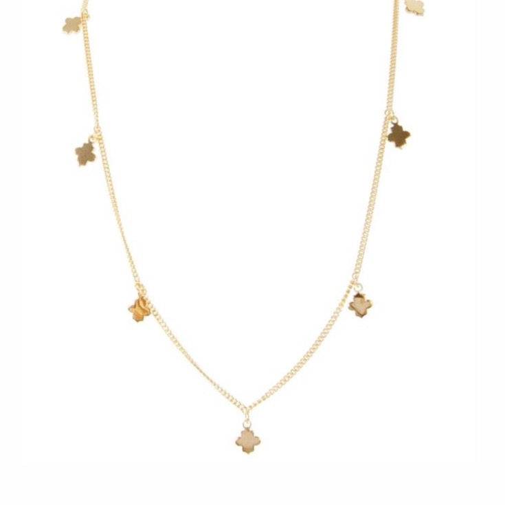 Fairley - Clover Charm Necklace Gold - Studio Matakana