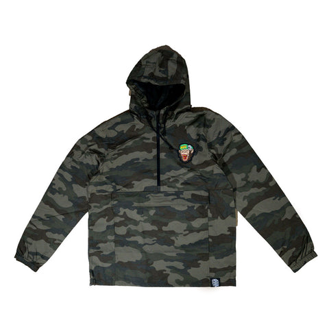 MFC Monkey Quarter Zip Windbreaker - Camo
