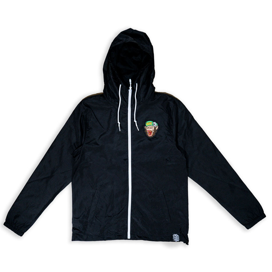 MFC Monkey Full Zip Windbreaker - Black