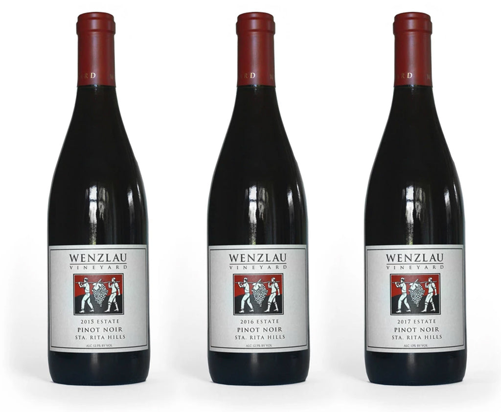 Estate Pinot Noir 2015, 2016 & 2017 Vertical