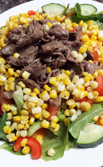 Chipotle Steak Salad with Scarborough Fair Vinaigrette Dressing