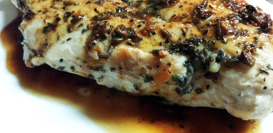 Lavender Chicken with Chardonnay Pan Glaze