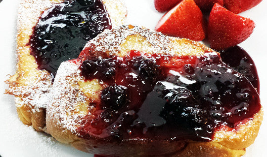 French Toast with Spiced Blackberry Jam