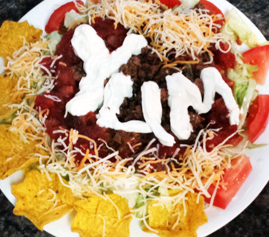Taco Salad with Mild Salsa