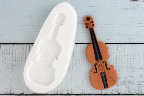 Violin Silicone Mould - Ellam Sugarcraft Moulds For Fondant Or Chocolate