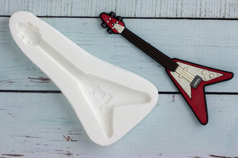 Guitar Mould - rock guitar mold- Ellam Sugarcraft cupcake cake craft Moulds For Fondant Or Chocolate