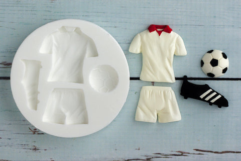 Football Kit mould- Soccer Strip mold-  football shirt silicone cupcake mould - Silicone Mould - Ellam Sugarcraft Moulds For Fondant Or Chocolate