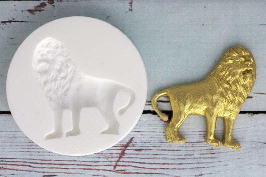 Lion  Mould - zoo animal mould-Ellam Sugarcraft cupcake cake craft Moulds For Fondant Or Chocolate