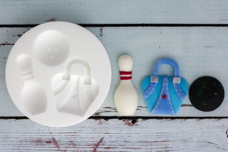 Bowling Silicone Mould - Ellam Sugarcraft Moulds For Fondant Or Chocolate