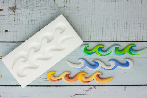Ocean Waves Silicone Mould - Ellam Sugarcraft Moulds For Fondant Or Chocolate