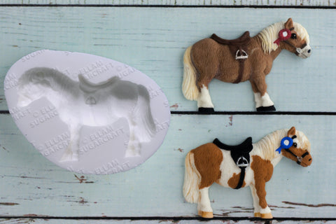Horse mould - Pony  Mould - Ellam Sugarcraft cupcake cake craft Moulds For Fondant Or Chocolate