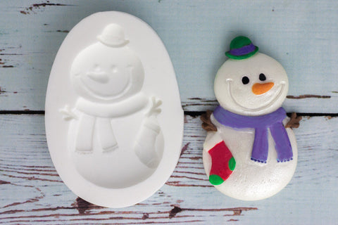 Christmas Holiday Snowman Silicone cake cupcake craft mold Mould - Ellam Sugarcraft Moulds For Fondant Or Chocolate