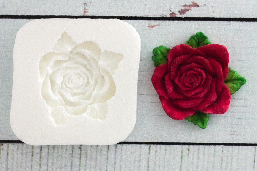 Rose Mould - valentine mold - Ellam Sugarcraft Moulds For Fondant Or Chocolate