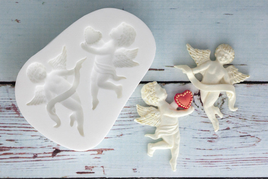 Cherub angel valentine cupcake cake craft Silicone Mould - Ellam Sugarcraft Moulds For Fondant Or Chocolate