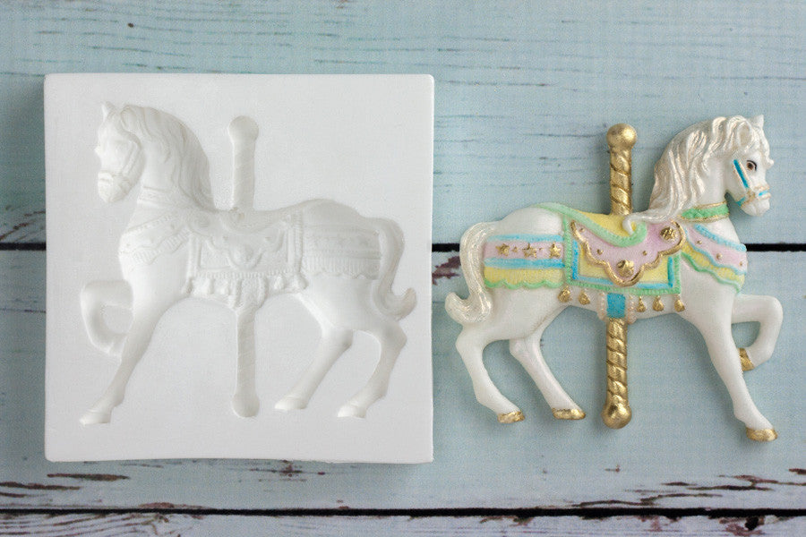 Carousel Horse Silicone cupcake cake craft mould mold - Ellam Sugarcraft Moulds For Fondant  Chocolate clay resin