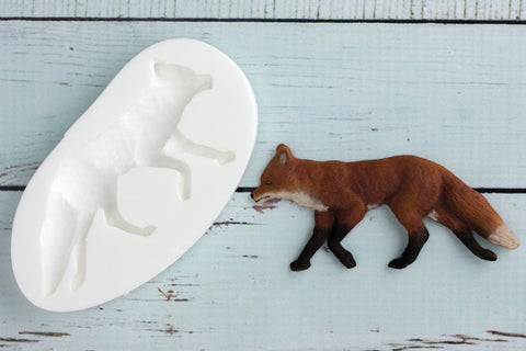 Woodland Fox Silicone Mould - Ellam Sugarcraft Moulds For Fondant Or Chocolate