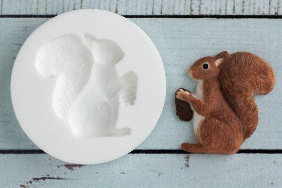 Squirrel  Mould - woodland mould - Ellam Sugarcraft cupcake cake craft Moulds For Fondant Or Chocolate