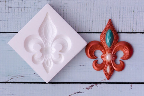 Fleur de Lis Silicone craft cake cupcake Mould mold- Ellam Sugarcraft Moulds For Fondant Or Chocolate