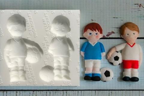 Football Silicone cake cupcake craft Mould - football bonbonnier- Ellam Sugarcraft Moulds For Fondant Or Chocolate