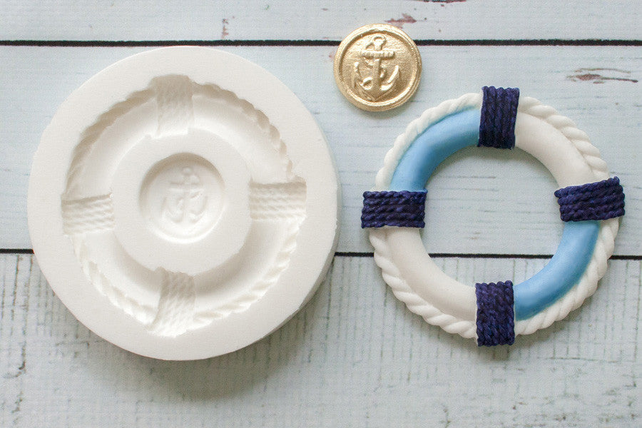Lifebelt mould - nautical cupcake mold- Ellam Sugarcraft cupcake cake craft Moulds For Fondant Or Chocolate