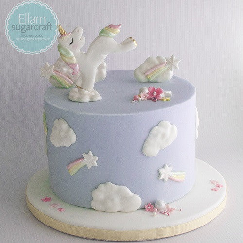 Unicorn baby cake - unicorn and rainbows baby shower cake- baby unicorn cake- Ellam Sugarcraft Moulds For Fondant Or Chocolate