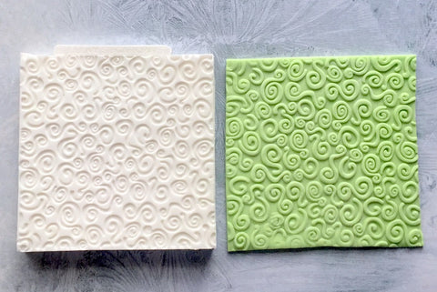Decorative Swirls Embossed Texture Mat Silicone Mould